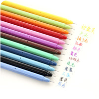 Gel-Ink Pens: 12 Colors: 0.5 mm Ballpoint *[This is a bulk package; there are 6 of each color: Total = 72 pens]