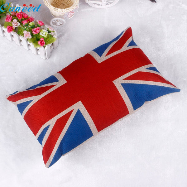 Ouneed Happy home 30*50CM  Pillow Case Pillow Cover Living Room   Home Decorate Square Pillowslip British Flag Pillow Shams