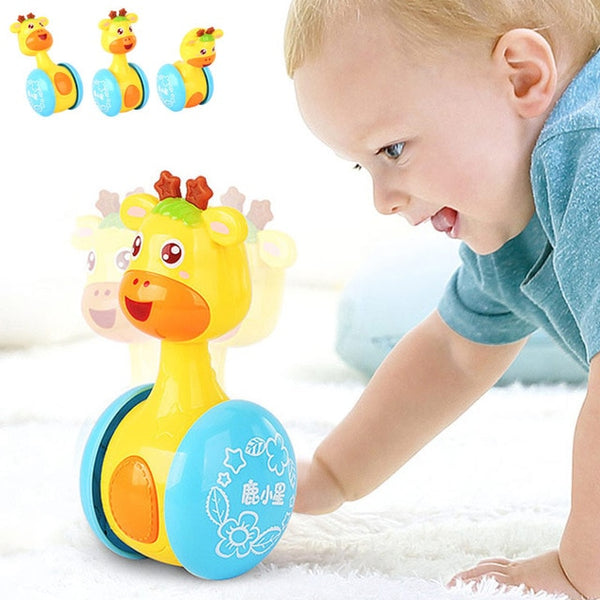 Baby's Tumbler Giraffe Toy:  Plays Music: Good for Exercising Baby Who is Learning to Crawl.