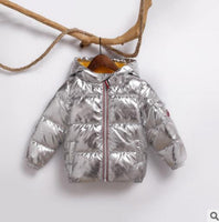 Children winter jacket: Casual Hooded Parka. Colors for Girls and Boys. Water shedding outer shell.  Wind proof cuffs.