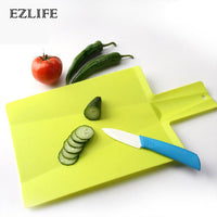 EZLIFE Chopping Block / Cutting Board: Unique Plastic Folding Board. (Non-slip) For the Kitchen, Camping, etc.