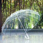 Umbrella: Semi-Automatic Transparent Umbrellas For Protect Against Wind And Rain  Long-Handle Umbrella Clear Field Of Vision