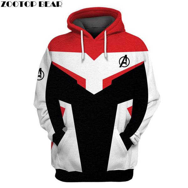 The Avengers 4 3D Print Marvel Hoody Men Hoodie Male Tracksuit Coat Avengers Endgame The Avengers 4 EU Size ZOOTOP BEAR Dropship