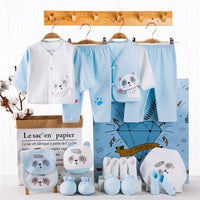 Newborn Baby Clothing Set in Storage Box: 18 pieces, 100% Cotton, Infant Summer Clothes - Girls and Boys Sets