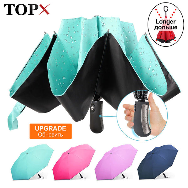 Umbrella: Reverse Folding Umbrella. Big, Windproof Umbrellas. Automatic Opening and Closing. Paraguas para hombres y mujeres.