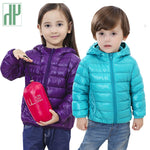 Children's Autumn/Winter Outerwear: Boys and Girls styles and colors: Hooded Down Coat: for 2 - 13 years