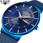 Watch: Men's Simple Luxury, New for 2019 by LIGE,  Water Resistant,  Reloj de Hombre