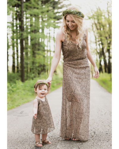 Savanah Mommy & Me Sun Dress - Safari