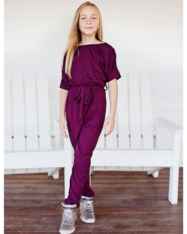 EMMALEIGH JUMPSUIT - WINE--youth