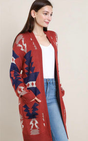 Tribal aztec cardigan
