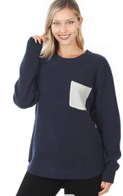 Pocket sweater {multiple colors}