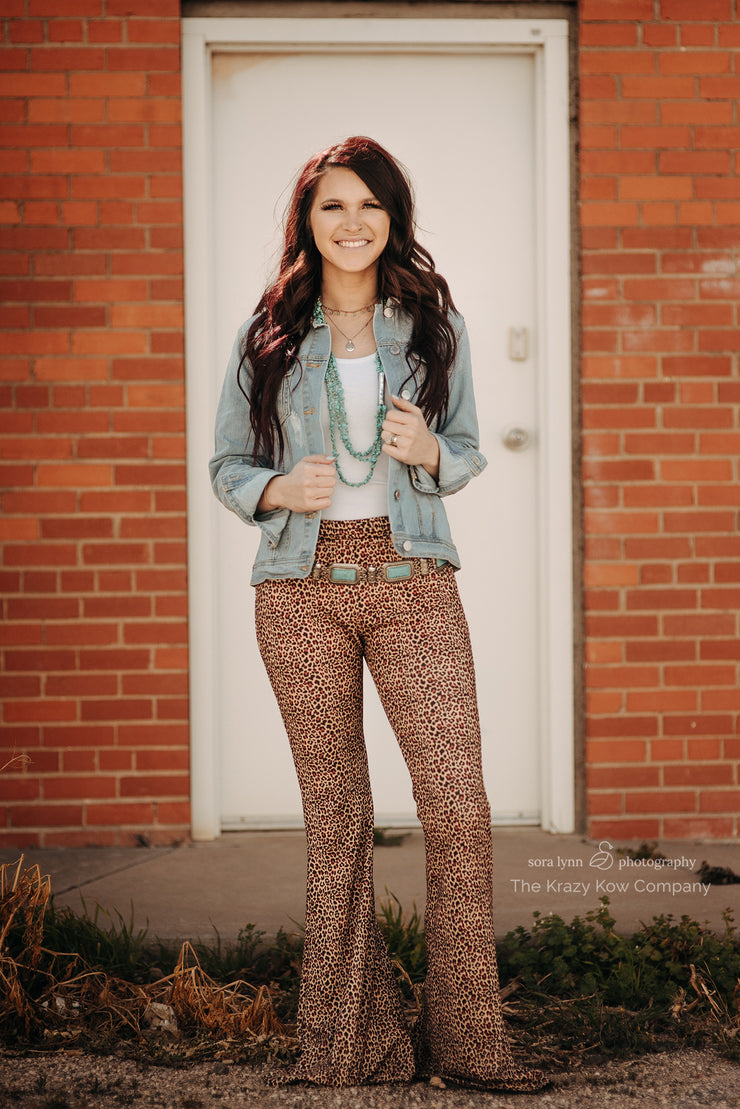 Leopard Bellbottoms