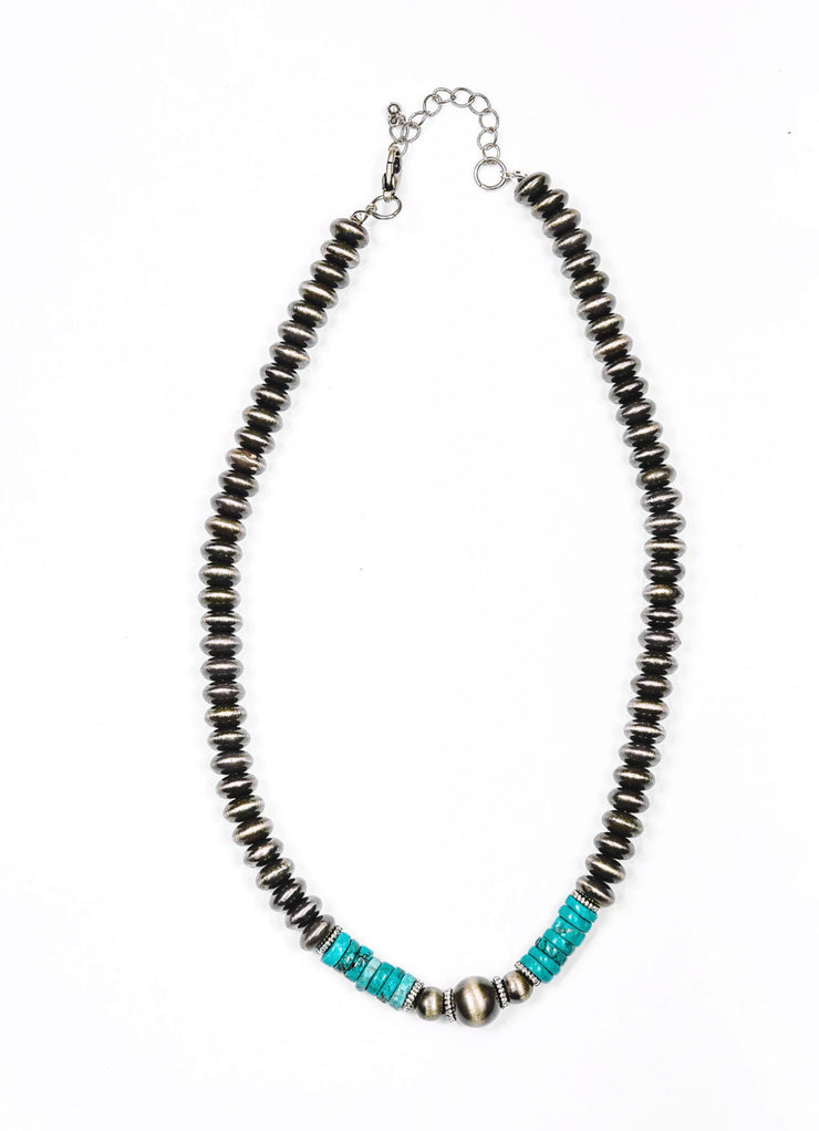 Pearly Navajo Necklace
