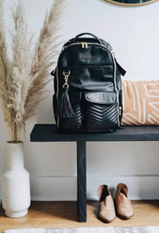 Jetsetter black boss backpack diaper bag {itzy ritzy}