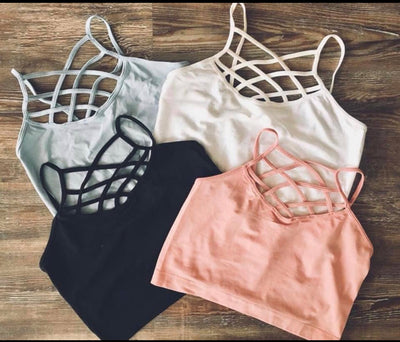 criss-cross seamless bralette- ONE SIZE - The Krazy Kow Co.