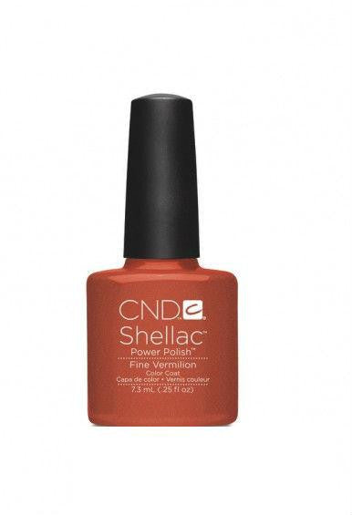 CND Shellac Fine Vermillion-Nail Supply UK
