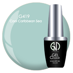 cool caribean sea  gnd g419 one step gel