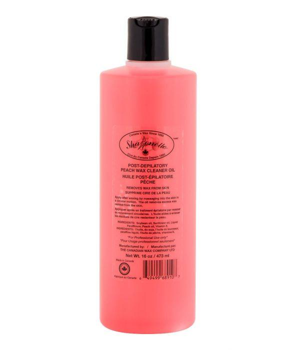 sharonelle post-depilatory peach wax cleaner oil 16oz