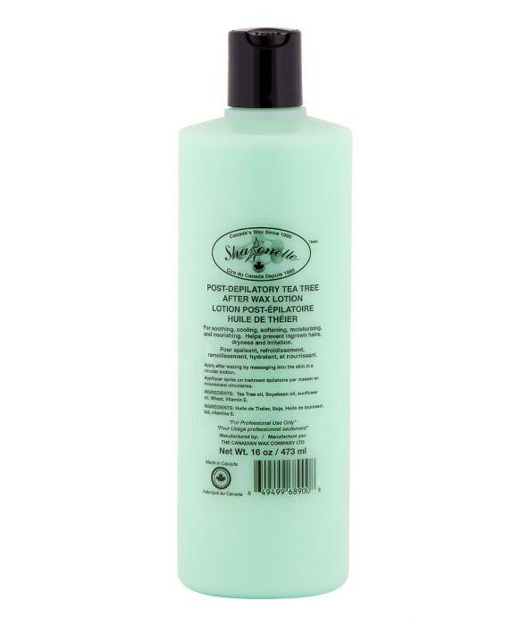 sharonelle post-depilatory tea tree after wax lotion 16oz