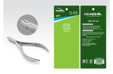 Stainless Steel Cuticle Nipper D-03 #12