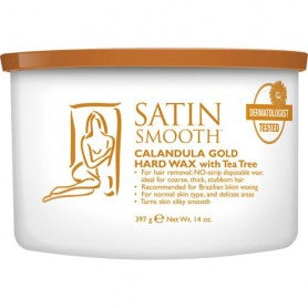 SATIN SMOOTH CALANDULA GOLD HARD with TEA TREE WAX 14 oz