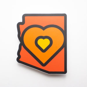 Arizona Heart Sticker