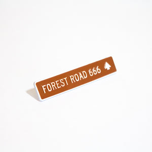 Forest Road 666 Pin