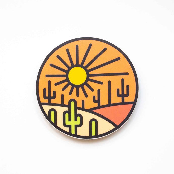 Saguaro Sun Sticker