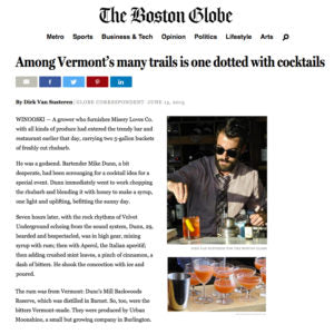 The Boston Globe - Among Vermont's many trails is one dotted with cocktails