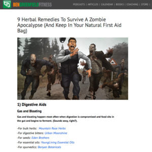 Ben Greenfield Fitness - 9 Herbal Remedies To Survive a Zombie Apocalypse