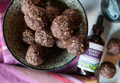 DIY energy adaptogen balls