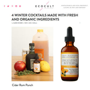 Ecocult - 4 Winter Cocktails Made with Fresh and Organic Ingredients