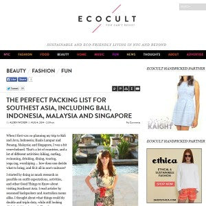 Ecocult - The Perfect Packing List for Southeast Asia