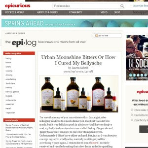Epicurious - Urban Moonshine Bitters or How I Cured my Bellyache