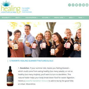 Healing Lifestyles & Spas - 5 Favorite Healing Summer Tinctures & Oils