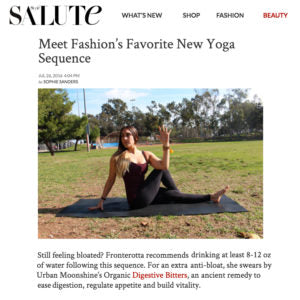 Style Salute - Meet Fashion's Favorite New Yoga Sequence