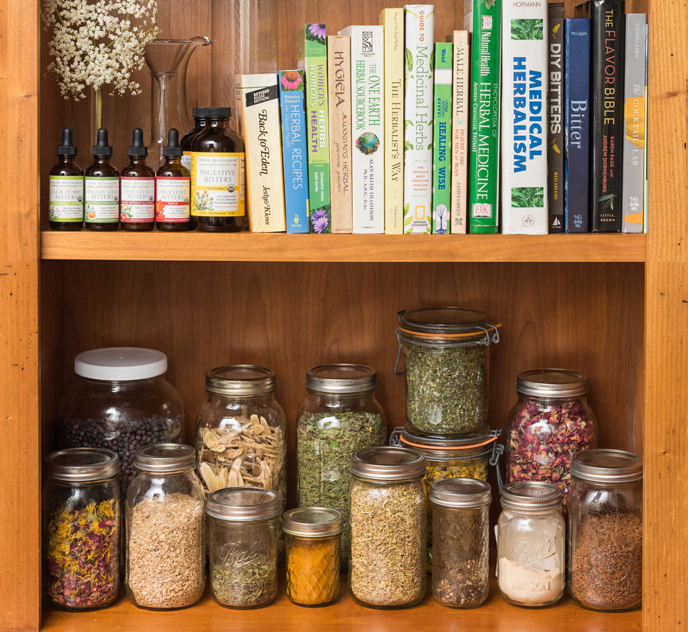 Urban Moonshine Herbal Medicine Shelf