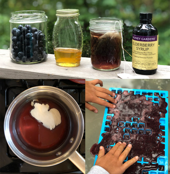 Elderberry gummy making