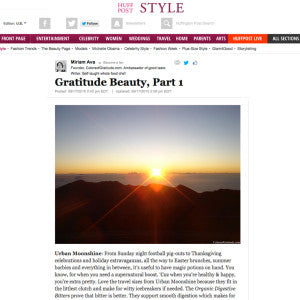Huffington Post - Gratitude Beauty