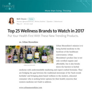Thrive Global - 25 Wellness Brands to Watch