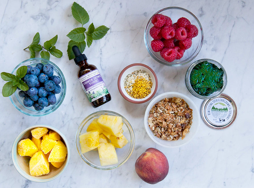 DIY Simmer Down Smoothie Bowl Ingredients
