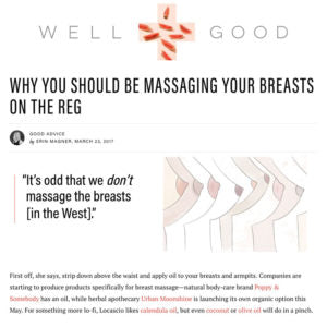 Well + Good - Why You Should be Massaging Your Breasts on the Reg