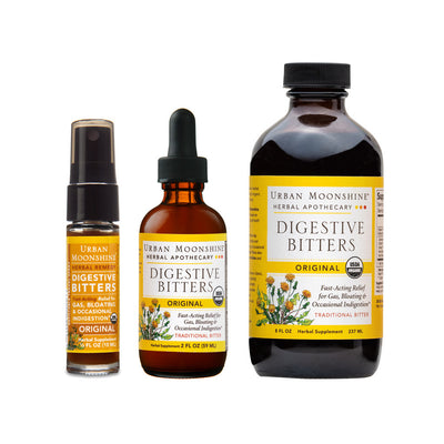 Bundle products included are Original Bitters 8oz, Original Bitters 2oz, Original Bitters Travel Spray