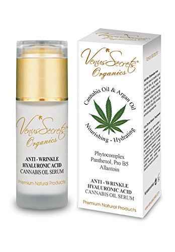 Venus Secrets Anti Wrinkle Hyaluronic Acid Serum with Cannabis Oil 40 ml