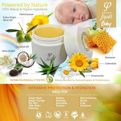 Natural Nappy Cream & Baby Moisturiser with Organic Beeswax and Olive Oil 50 ml