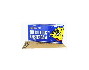 Licenseplate The Bulldog Amsterdam Blue