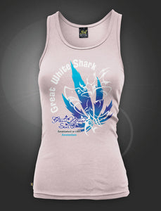 Green House White Shark Ρink Τank Τop - rollit-gr