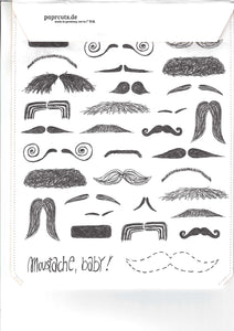 Tablet Cover Paprcuts Moustache Baby