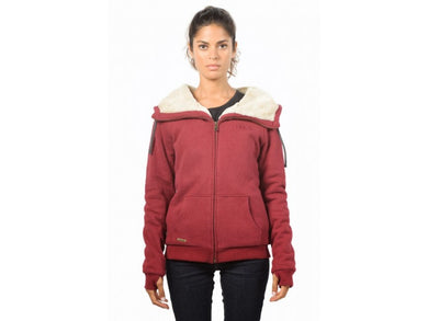 Ladies' Zip Up Hoodie HoodLamb Merlot