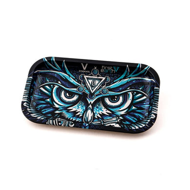 Metal Rolling Tray Owl Large (27L/16W)